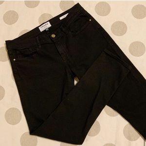 FRAME le garçon Black Slim Boyfriend Jeans